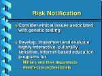 risk notification35