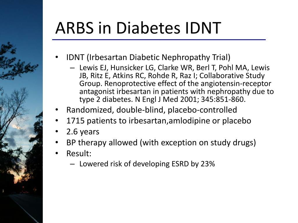 ARBS in Diabetes IDNT