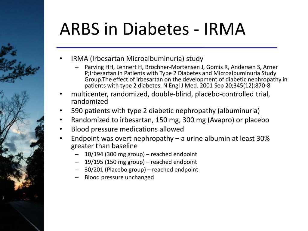 ARBS in Diabetes - IRMA