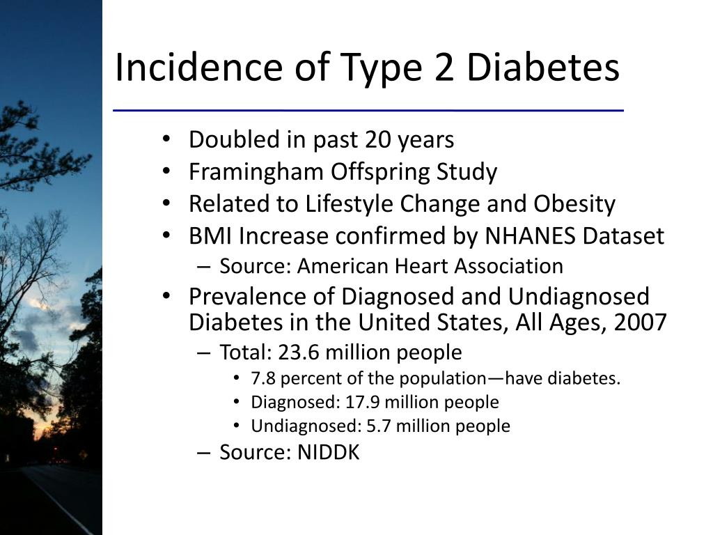 Incidence of Type 2 Diabetes