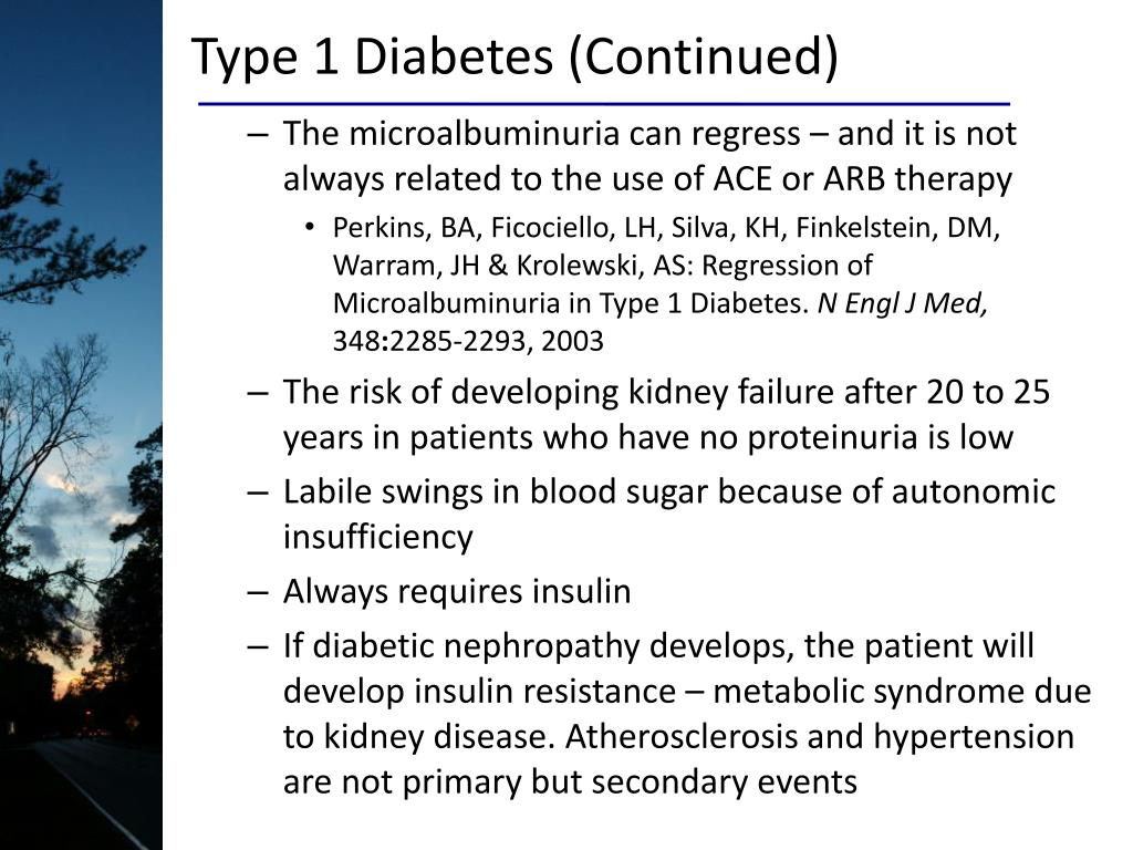 Type 1 Diabetes (Continued)