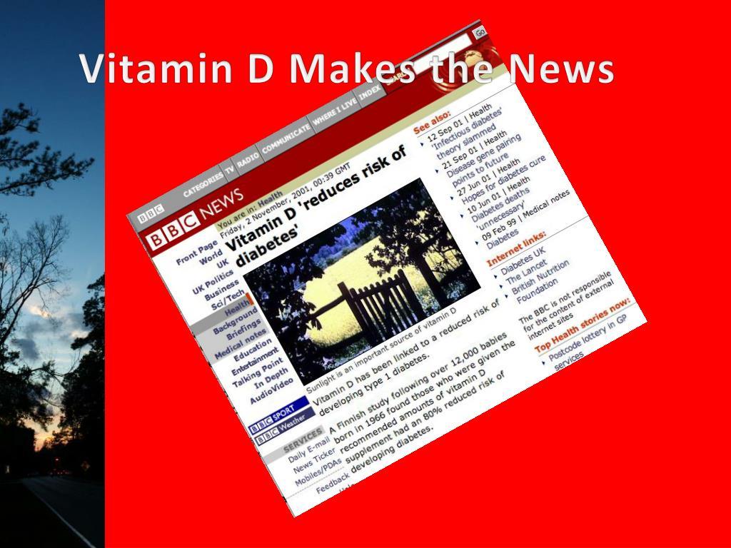 Vitamin D Makes the News