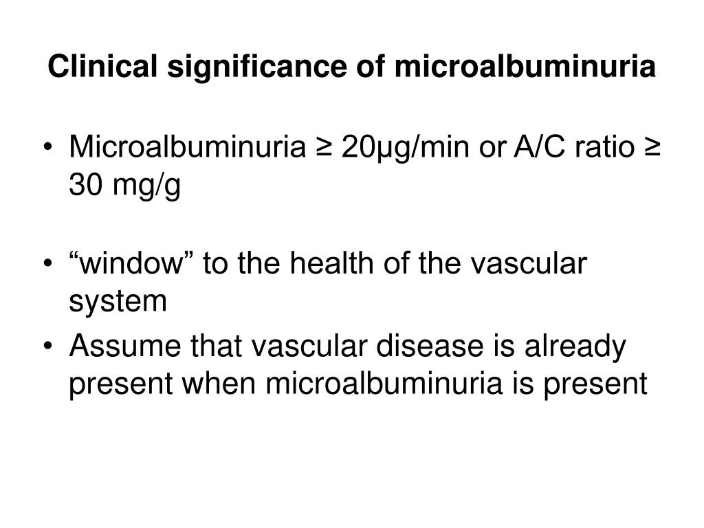 Clinical significance of microalbuminuria