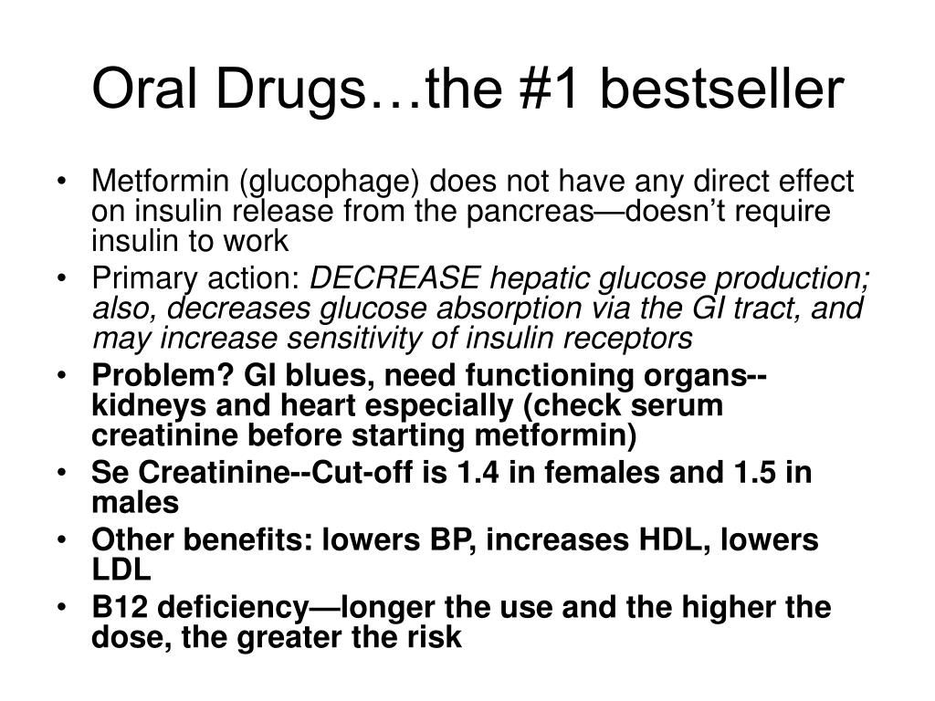 Oral Drugs…the #1 bestseller
