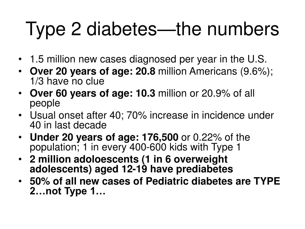 Type 2 diabetes—the numbers