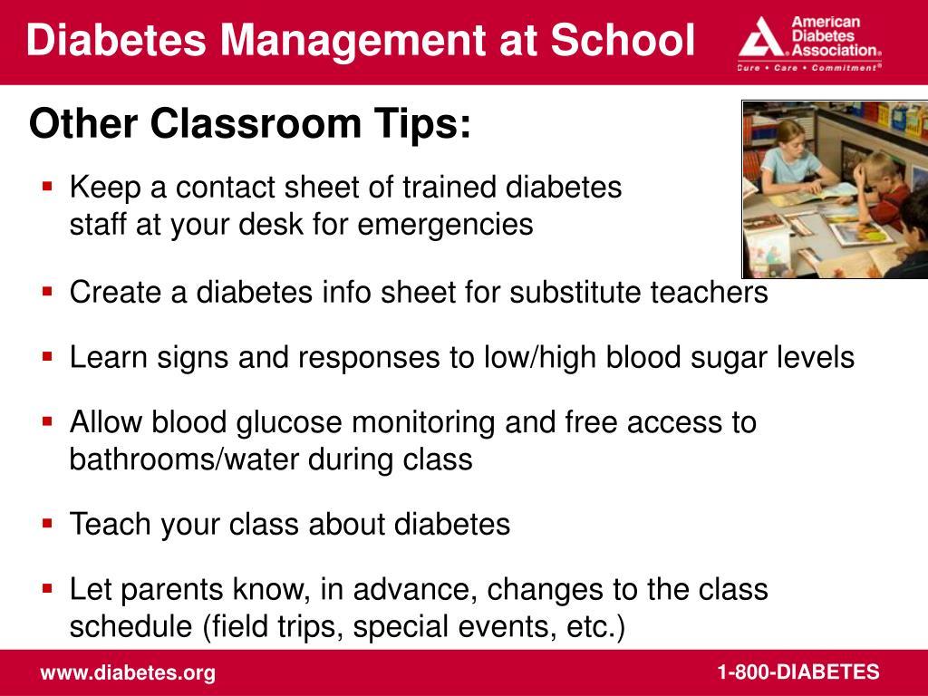 Diabetes Management at School