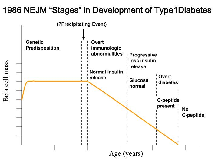 1986 nejm stages in development of type1diabetes