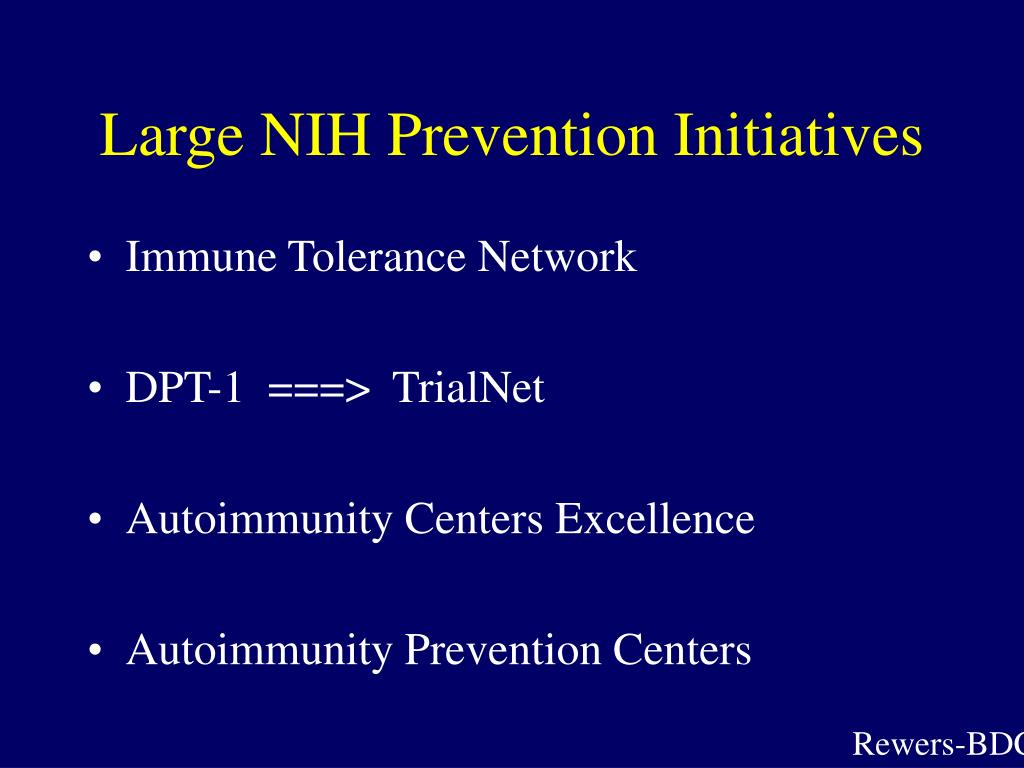 Large NIH Prevention Initiatives