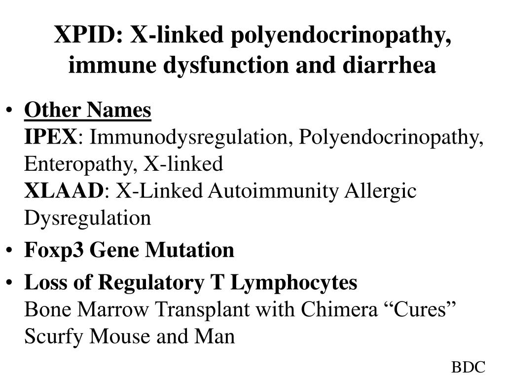 XPID: X-linked polyendocrinopathy, immune dysfunction and diarrhea