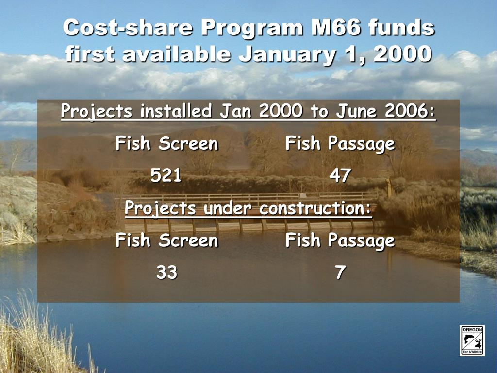 Cost-share Program M66 funds