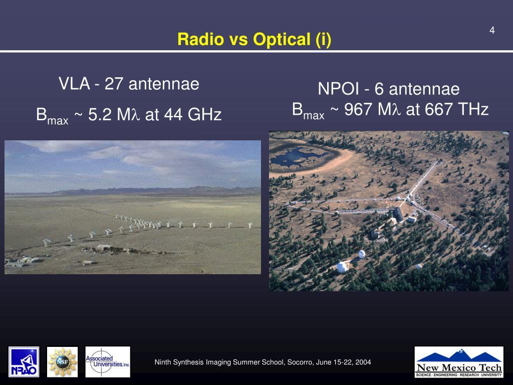 Radio vs Optical (i)
