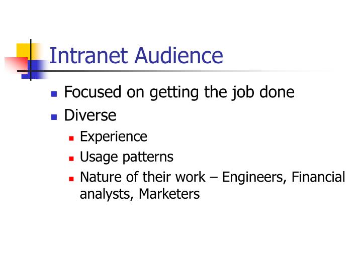 Intranet Audience