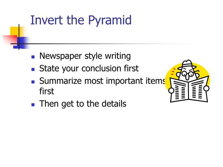 Invert the Pyramid