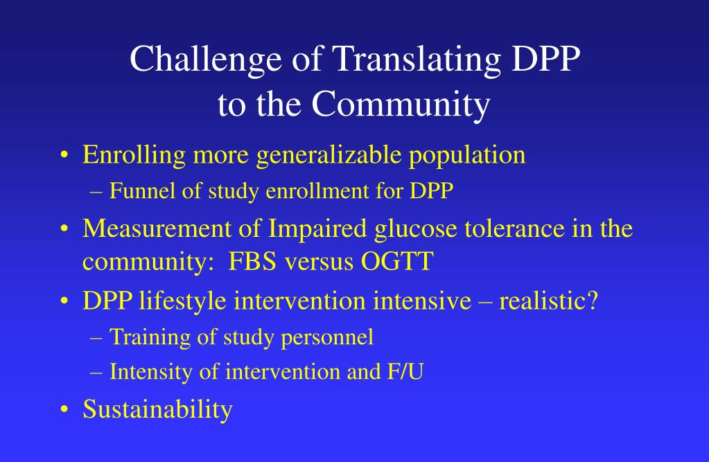 Challenge of Translating DPP