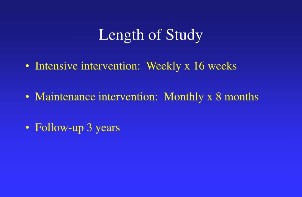 Length of Study