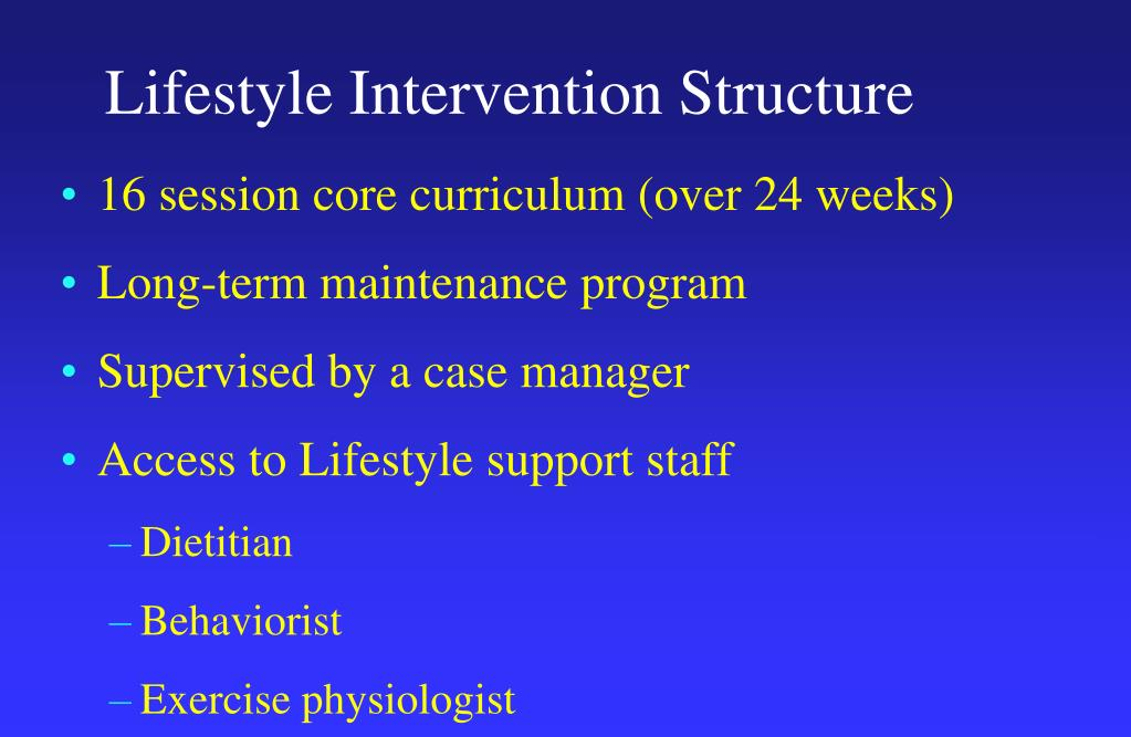 Lifestyle Intervention Structure