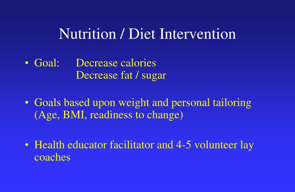 Nutrition / Diet Intervention