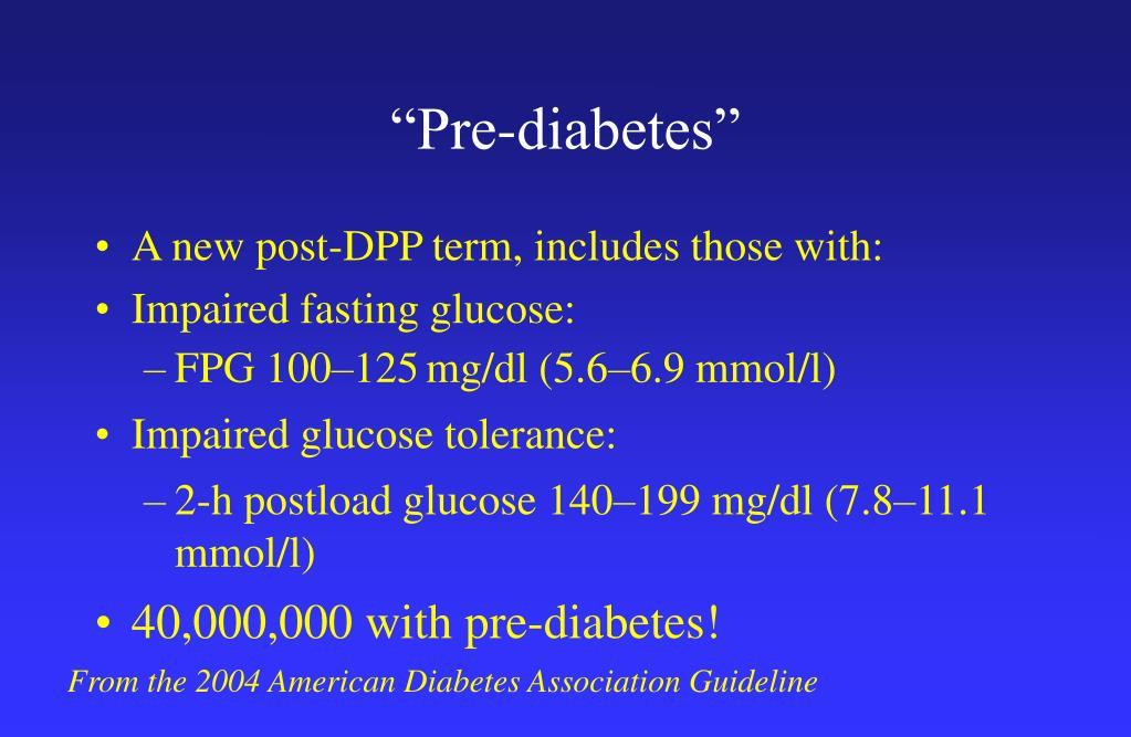 """""""Pre-diabetes"""""""