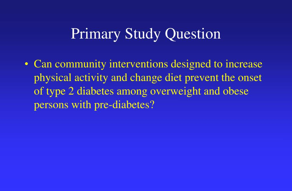 Primary Study Question