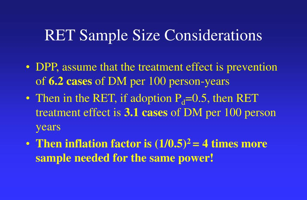 RET Sample Size Considerations
