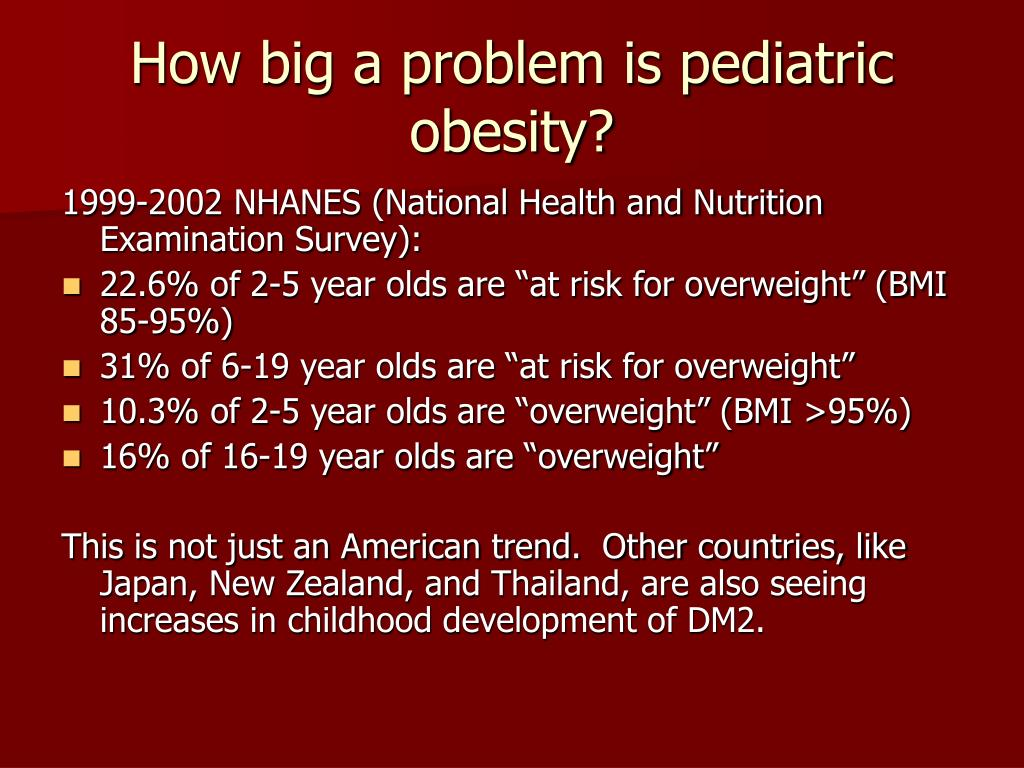 How big a problem is pediatric obesity?