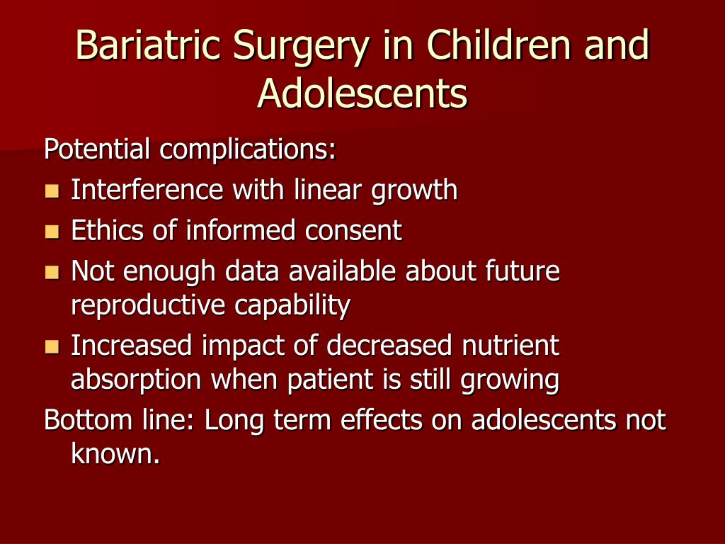 Bariatric Surgery in Children and Adolescents