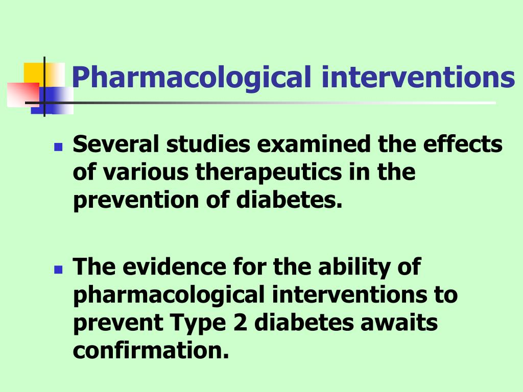 Pharmacological interventions