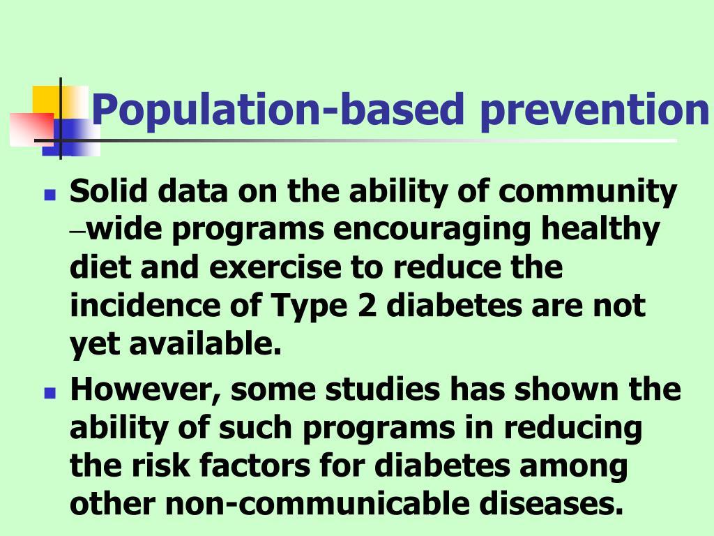 Population-based prevention