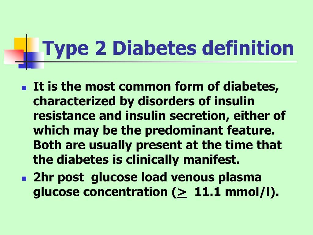 Type 2 Diabetes definition