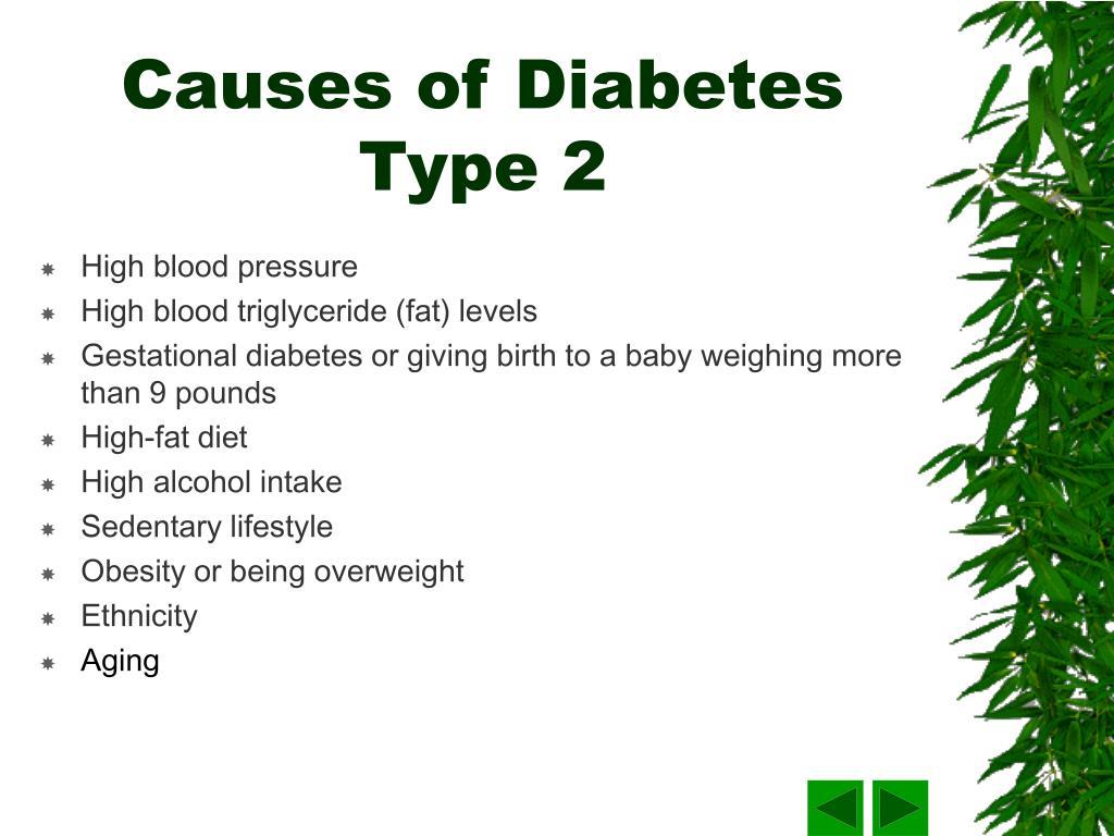 Causes of Diabetes Type 2