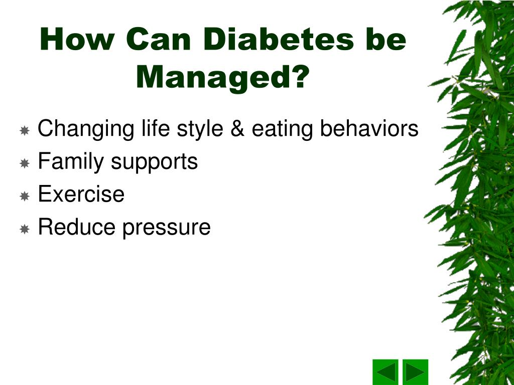 How Can Diabetes be Managed?