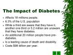 the impact of diabetes