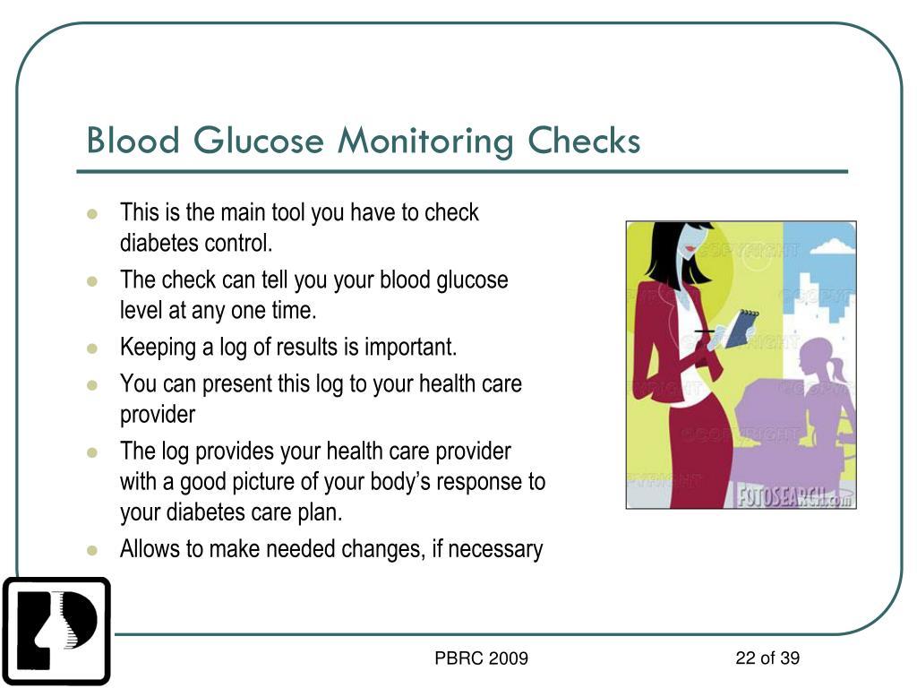Blood Glucose Monitoring Checks