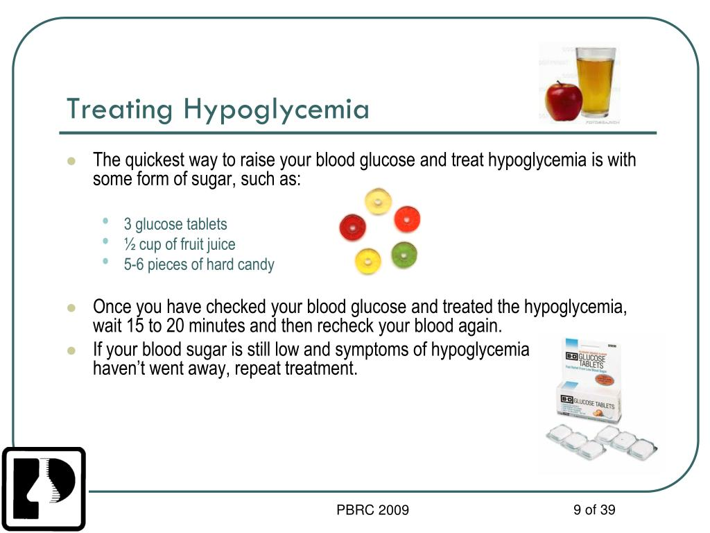 Treating Hypoglycemia