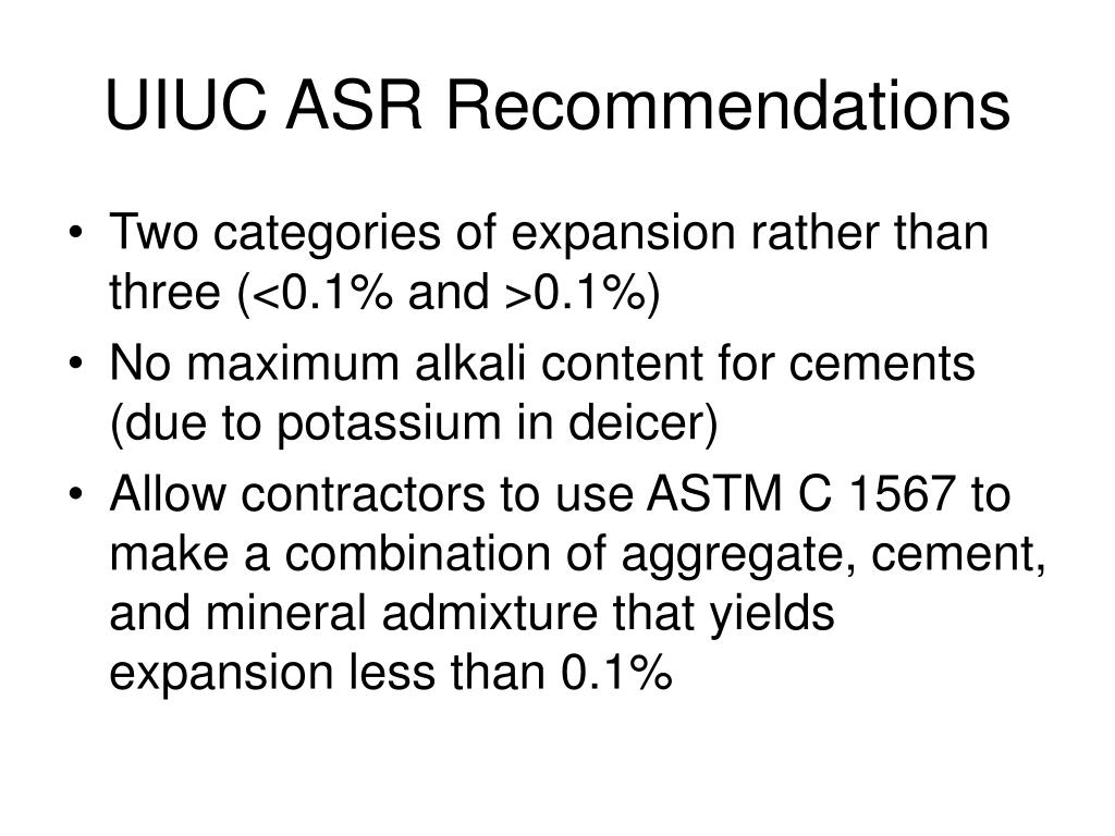 UIUC ASR Recommendations
