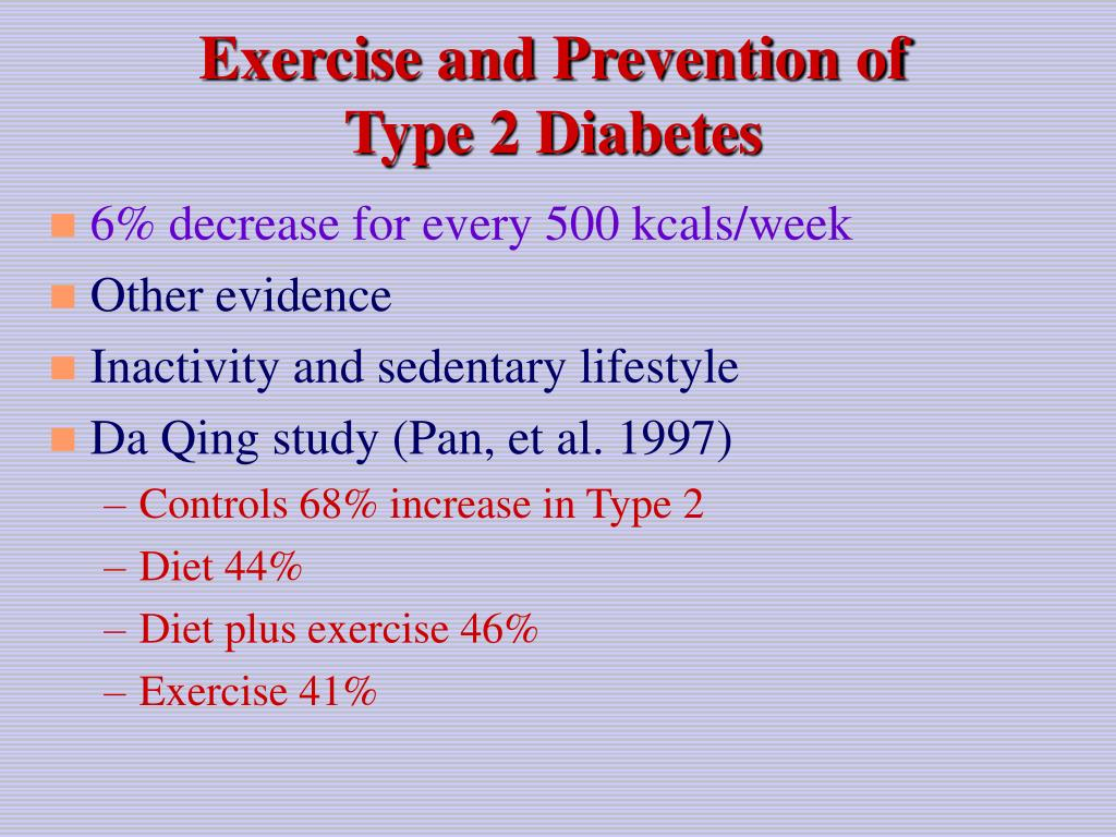 Exercise and Prevention of