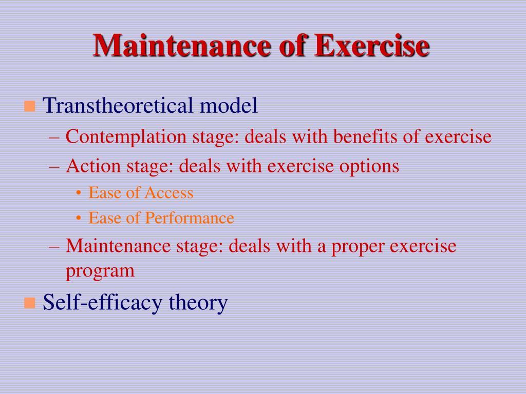 Maintenance of Exercise