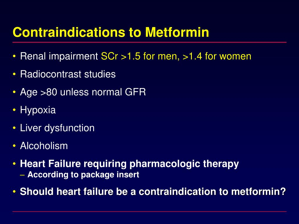 Contraindications to Metformin