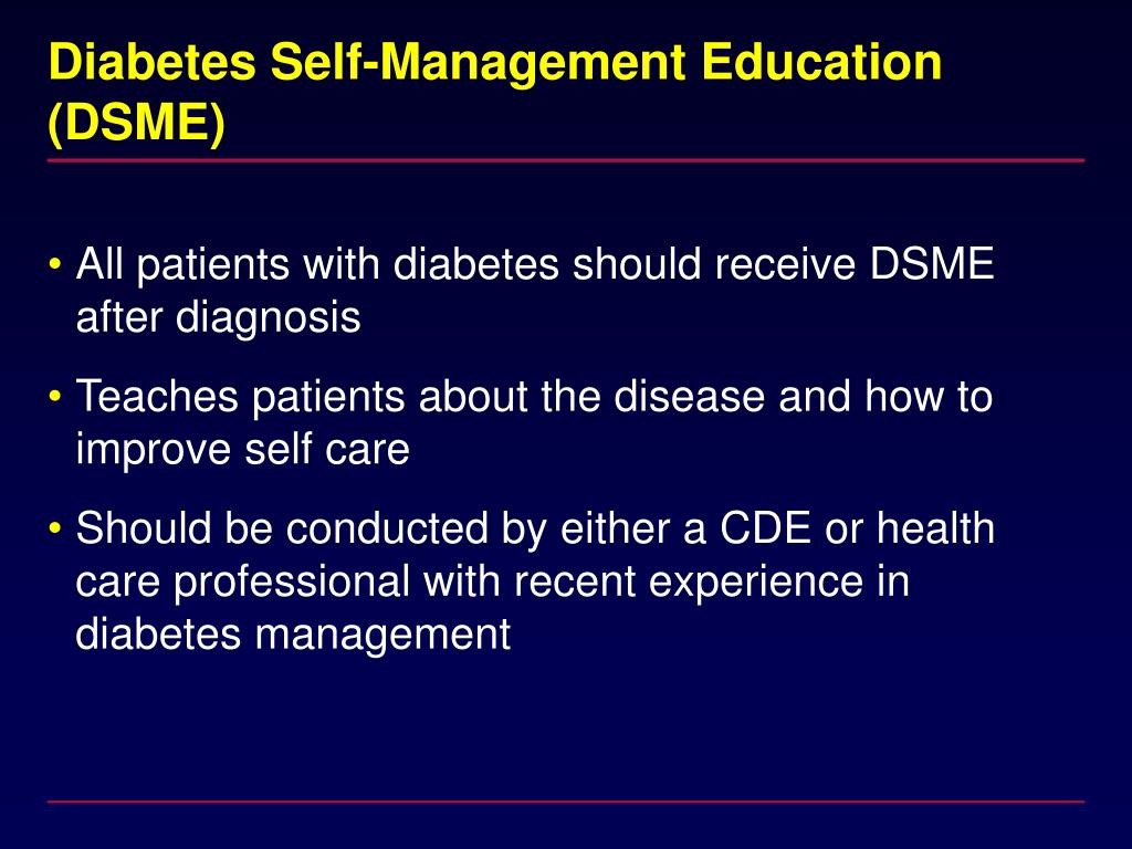 Diabetes Self-Management Education (DSME)