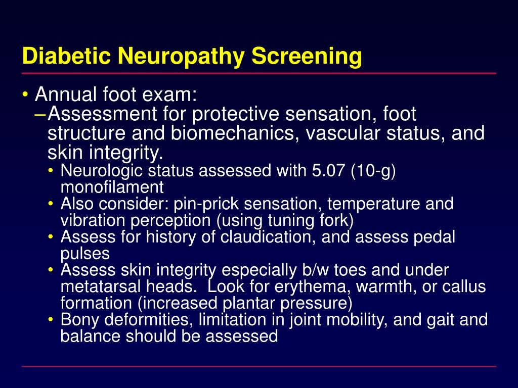 Diabetic Neuropathy Screening