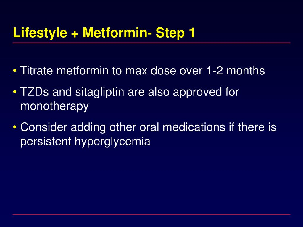Lifestyle + Metformin- Step 1