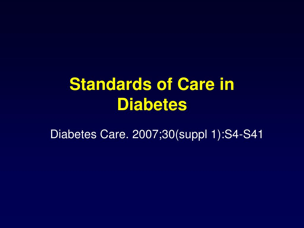 Standards of Care in Diabetes