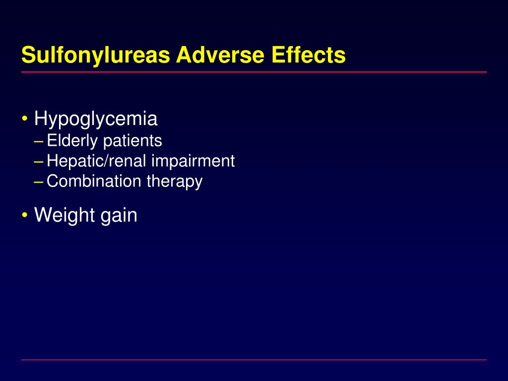 Sulfonylureas Adverse Effects