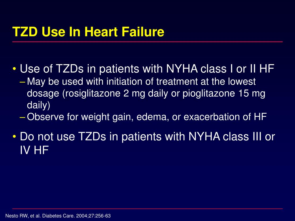 TZD Use In Heart Failure