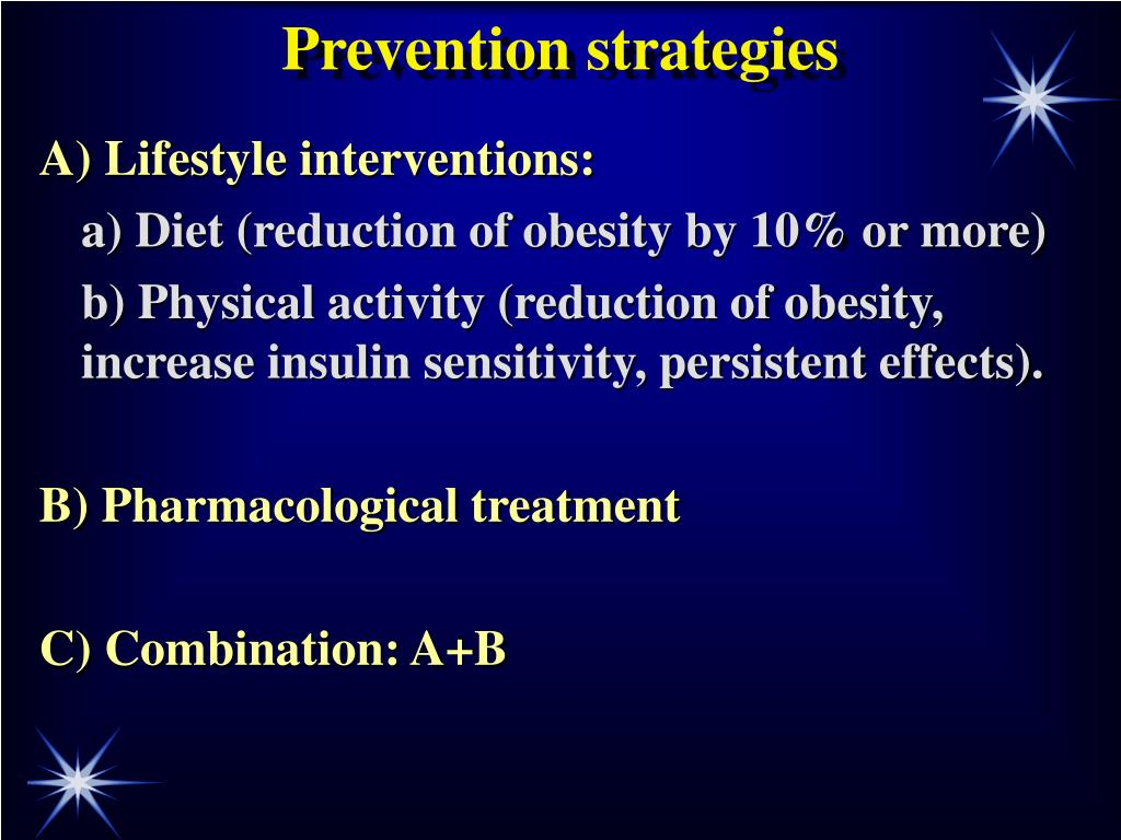 Prevention strategies