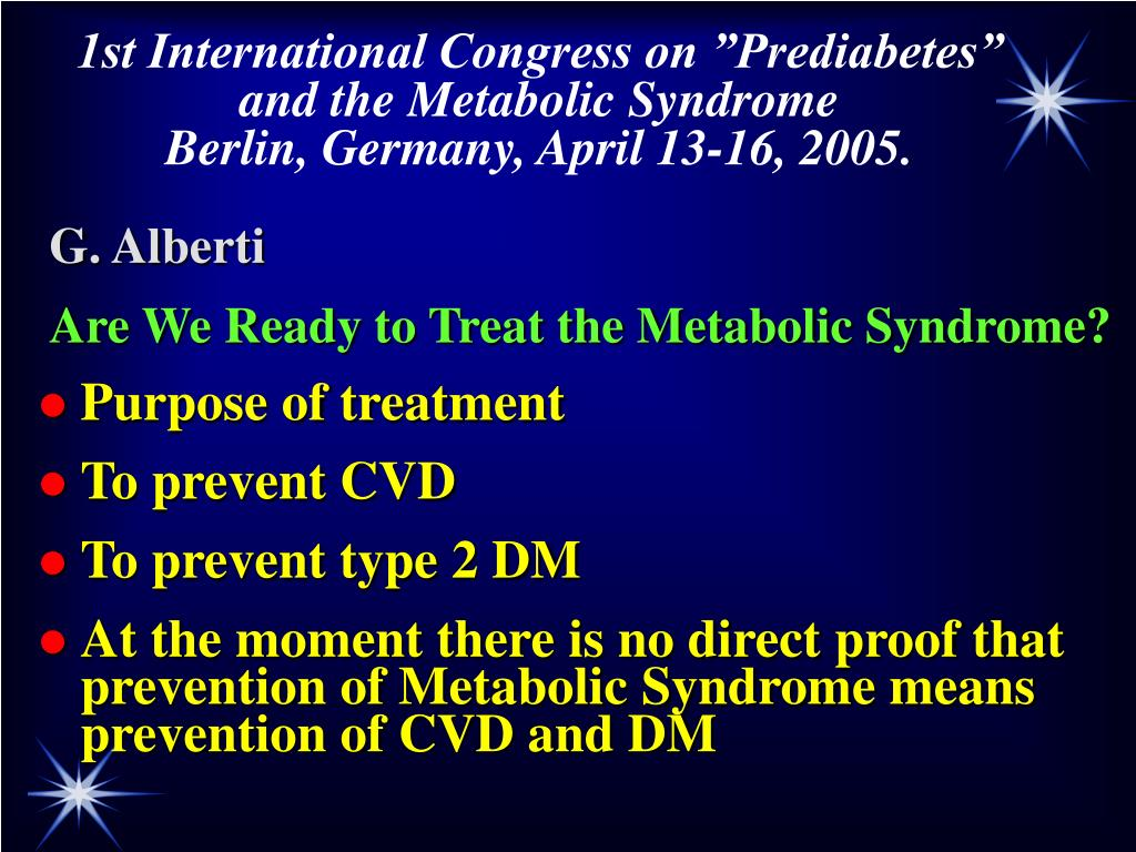 "1st International Congress on ""Prediabetes"""