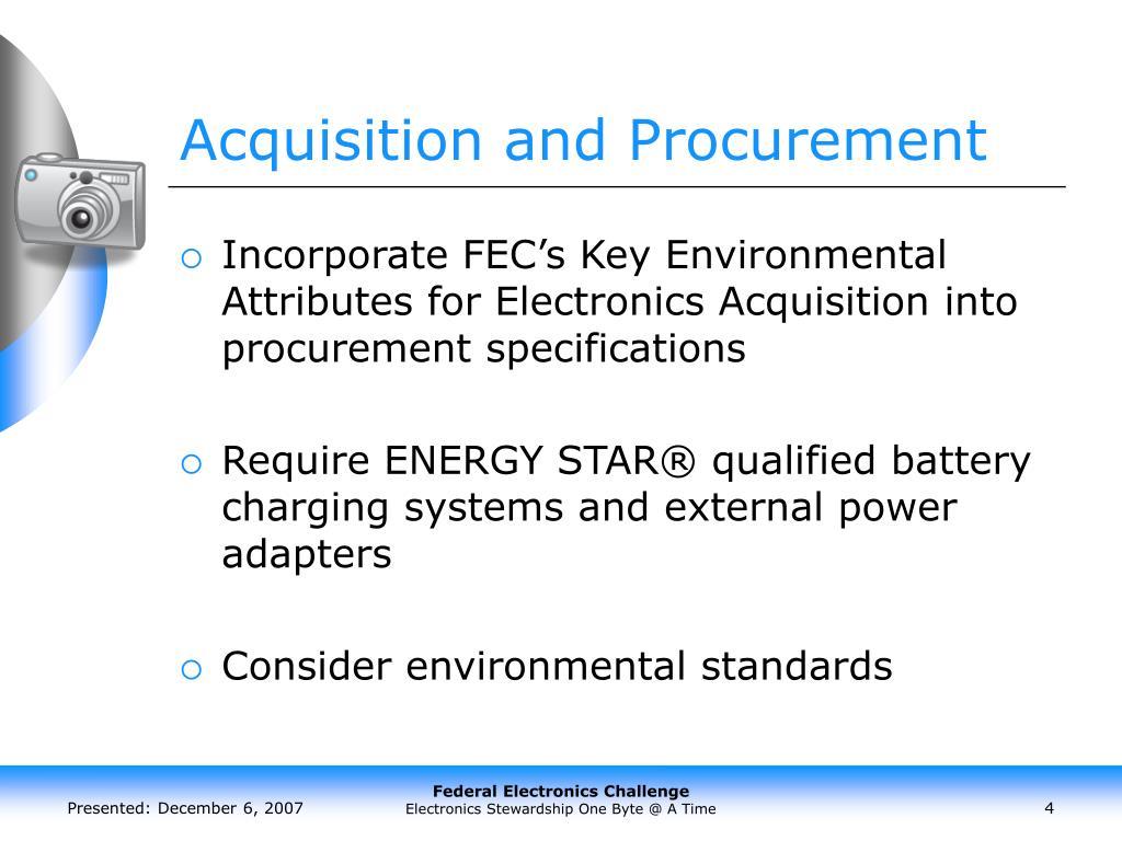 Acquisition and Procurement