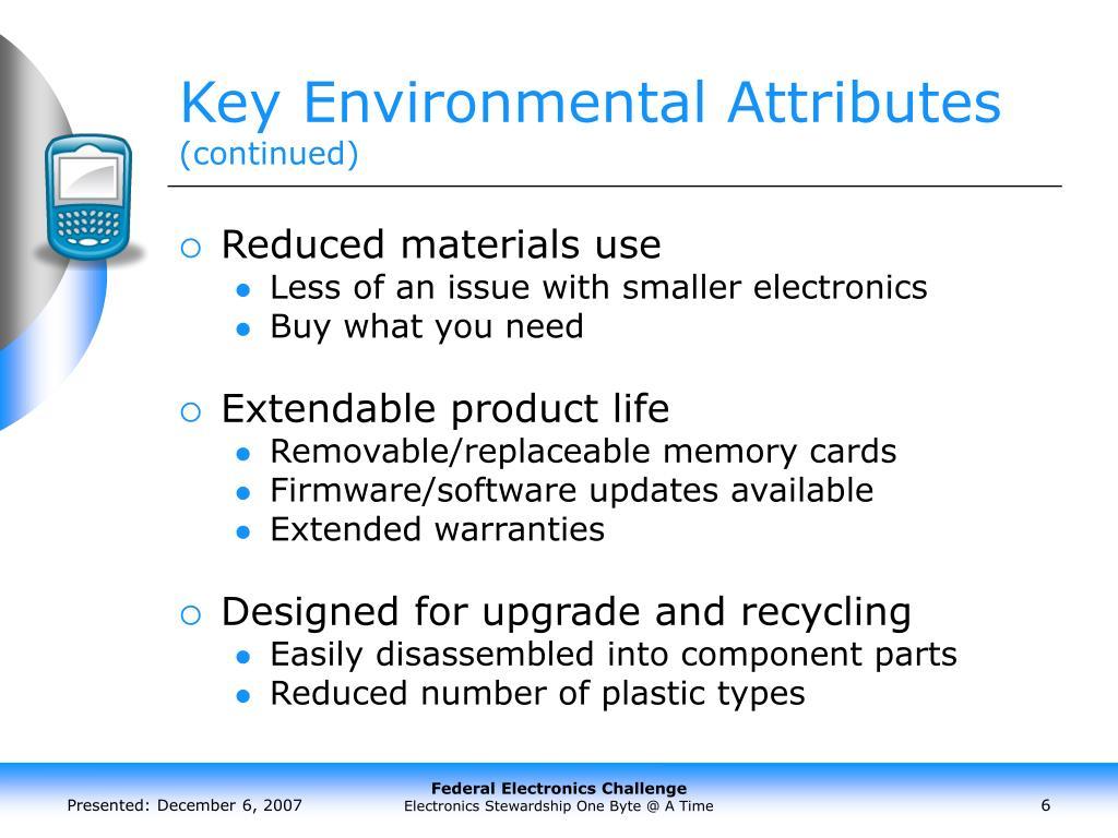 Key Environmental Attributes