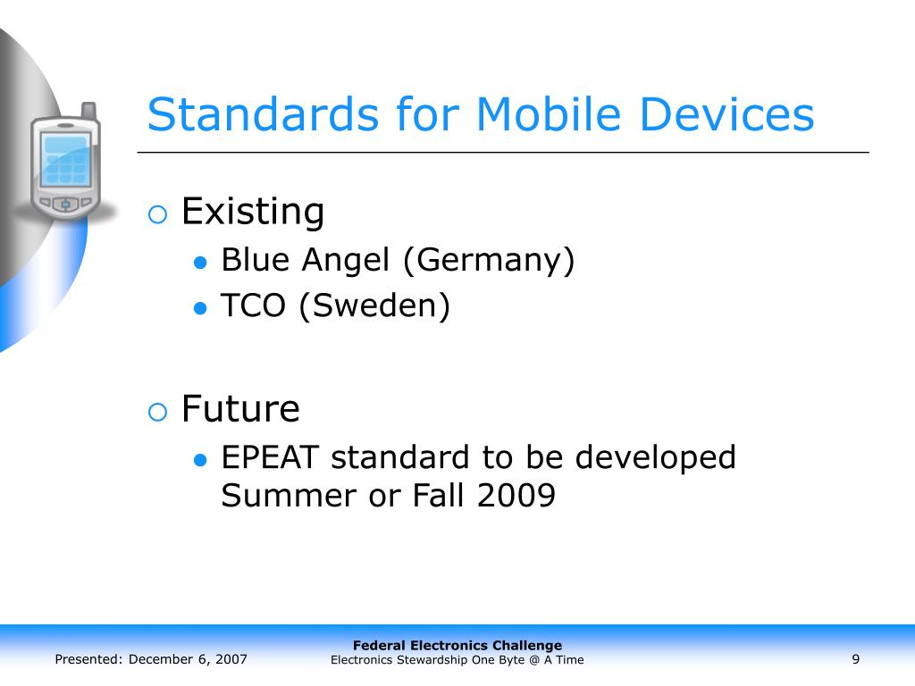 Standards for Mobile Devices
