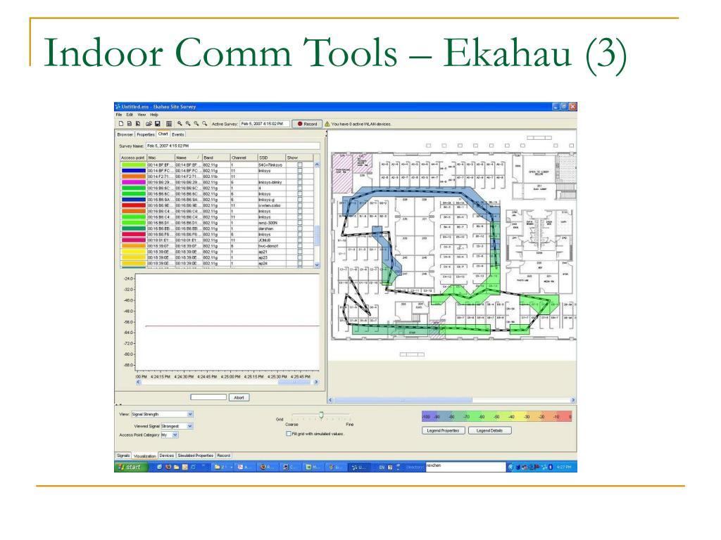 Indoor Comm Tools – Ekahau (3)